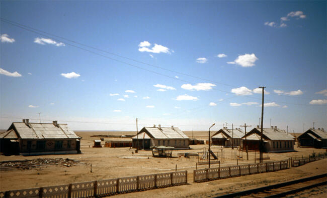 A dry village in the Gobi desert