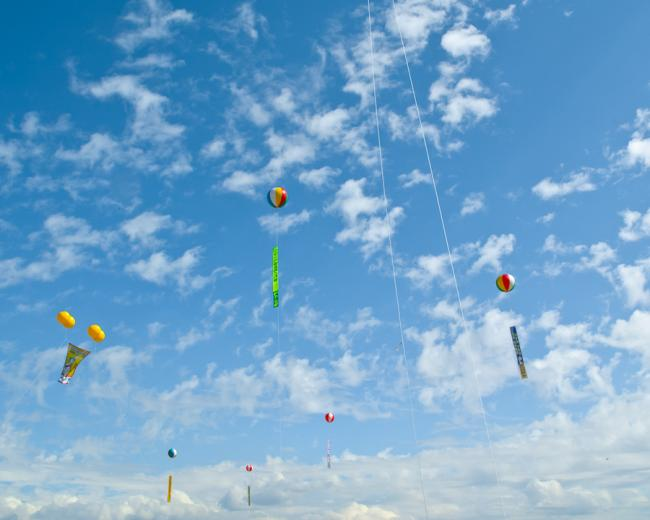 Blue sky with balloons, Andong