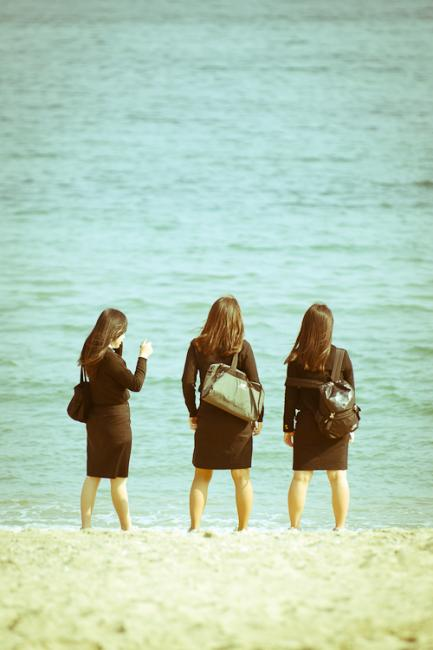 Haeundae girls – on the beach after school