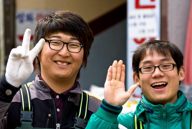 Two smiling Korean men