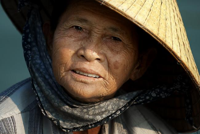 Portrait, woman, Vietnam