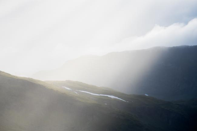 Rain and sun in the mountain, Skarvheimen, Norway