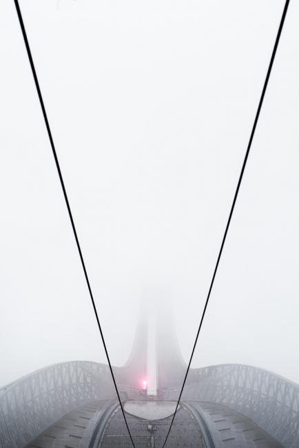 Skijump in fog. Closed today.