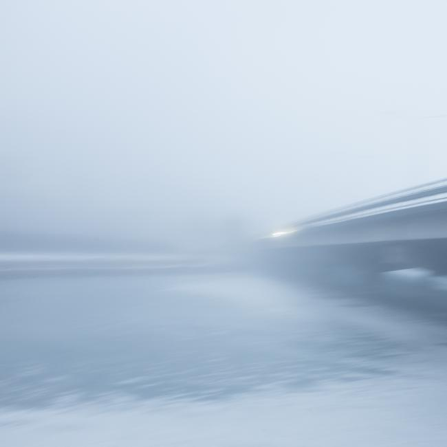 Bridge in snow