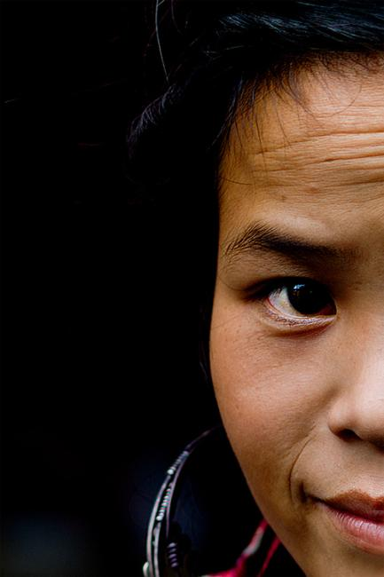 Portrait of a Black Hmong woman, Sapa Vietnam