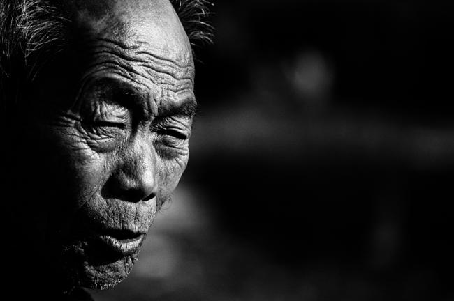 Portrait of a Korean farmer